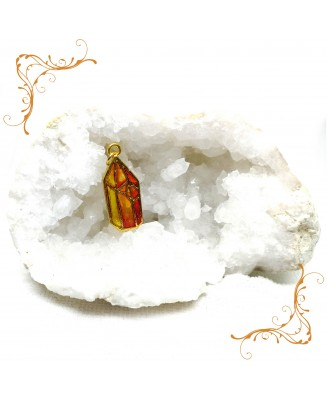 Fire crystal pendant