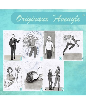 Original drawings Aveugle