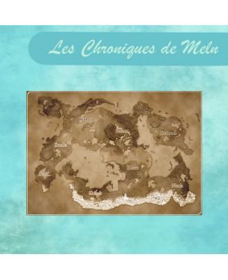"""Carte A5 nacrée """"Les Chroniques de Meln"""""""